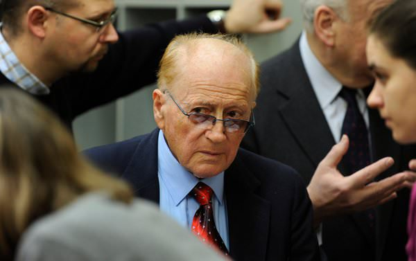 Philip Bialowitz before the trial against John Demjanjuk in 2010. Mr. Demjanjuk was convicted of being a collaborating guard at Sobibor, a secret Nazi death camp. CHRISTOF STACHE, VIA ASSOCIATED PRESS
