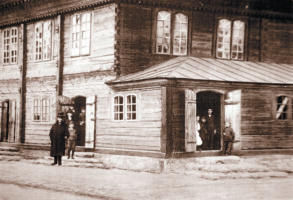 The synagogue in Jedwabne, Poland, before World War II Laski Diffusion/East News/Getty Images